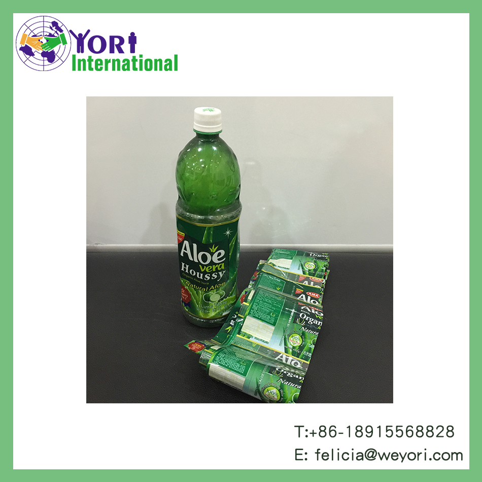 Yori high quality and good service heat shrink label for plastic bottle