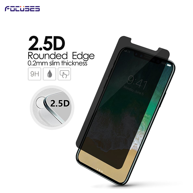 Focuses Premium 9H 180 Degree Privacy Anti-Spy Anti-Glare Tempered Glass Screen Protector for iPhone