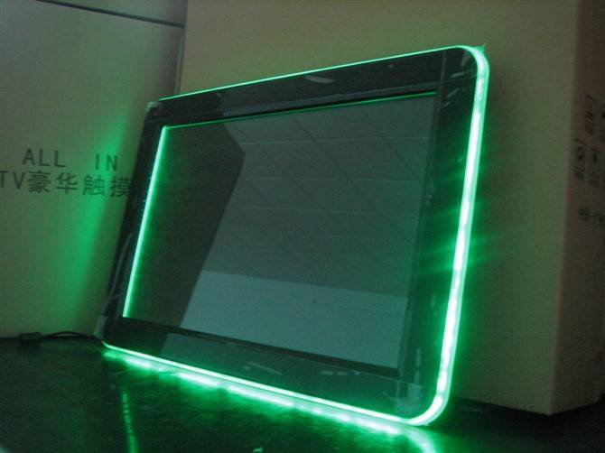 touch screen with flash lights