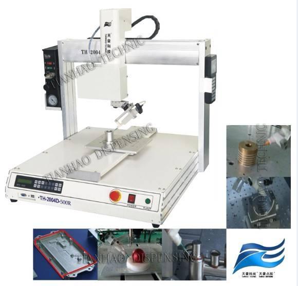 TH-2004D-300R 4 axes desktop automatic industrial glue dispensing robot