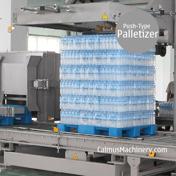Film Pack Palletizing Machine Shink Wrap Push-type Carton Palletizer