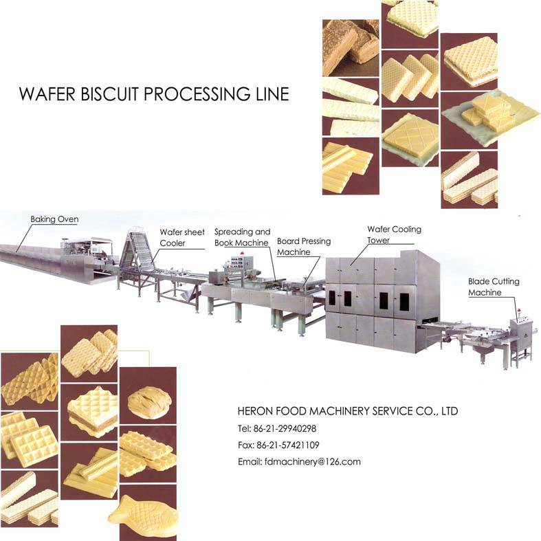 wafer biscuits processing line