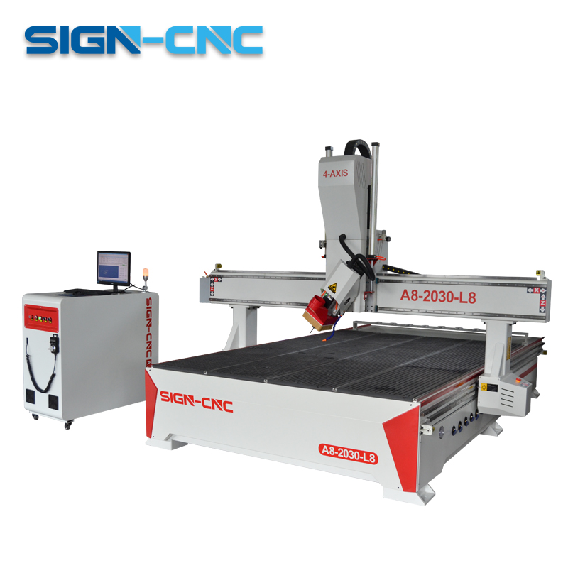 SIGN-2030 4 Axis ATC Wood CNC Router Furniture Making