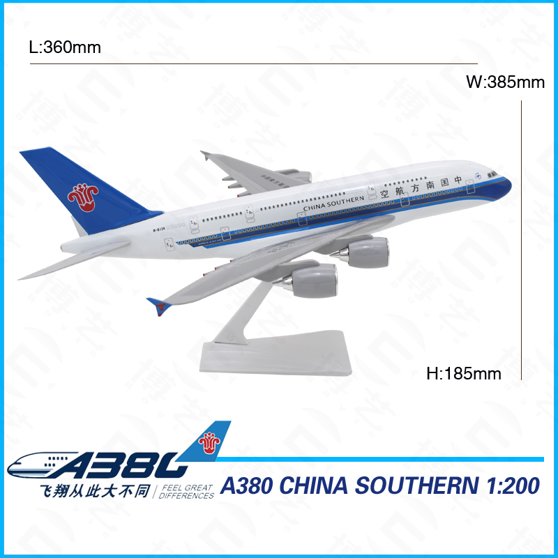 36cm Handmade Decorative Large Scale Aircraft model 1:200 Model Plane with stand
