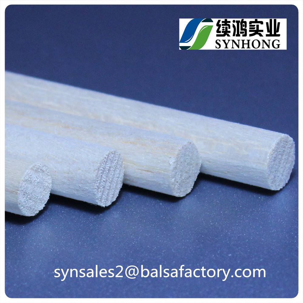 High Quality Balsa Wood Round Sticks Strips Dowel