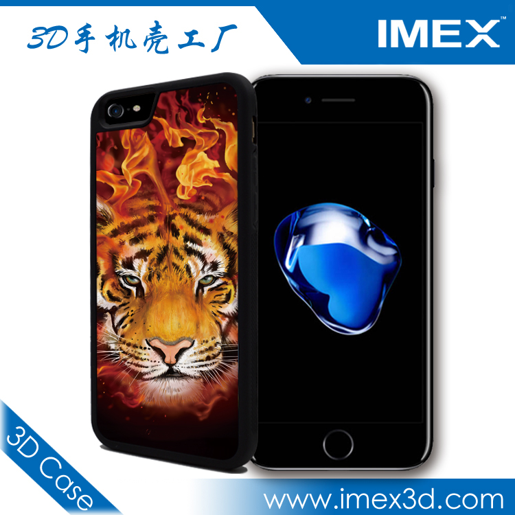 Supply TPU or PC 3D phone case for iphone 6s,phone case for iphone6 with tiger lion flip design six