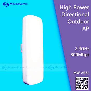 Atheros AR9341 2T2R MIMO 300Mbps long distance outdoor directional wireless access point (AP)