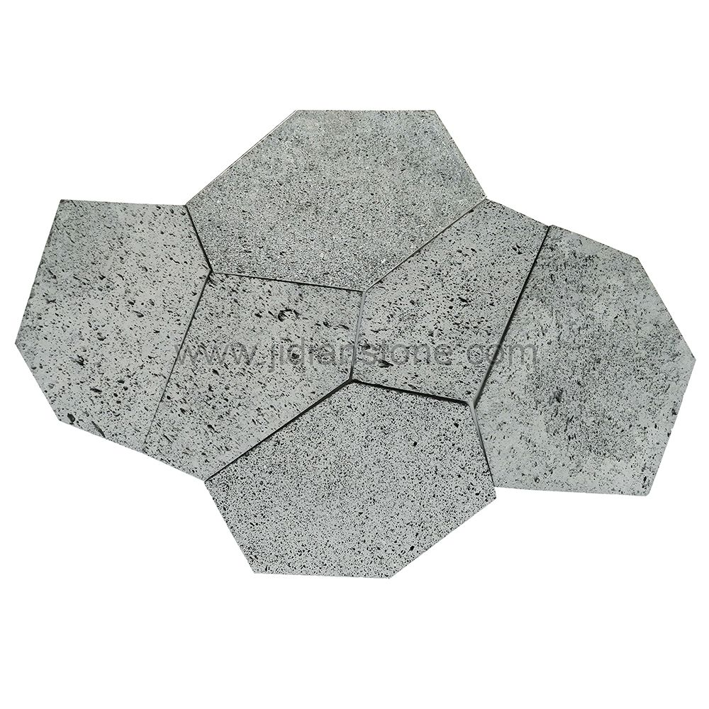 Grey Volcanic Lava Flagstone Natural Stone Patio Paver