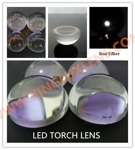 23mm diameter glass led torch lens narrow beam 10 degree