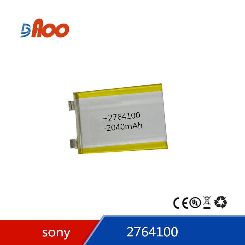 Li-polymer battery 2764100 3.7V  2040mAh rechargeable battery