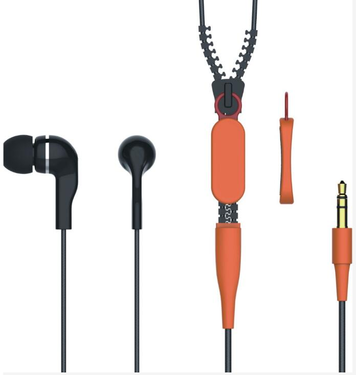 China factory cheap zipper earphone for gift or promotion