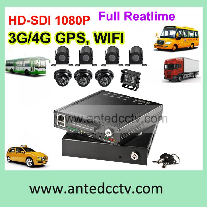 3G 8 channel 1080p car bus Vehicle mobile DVR with GPS,3G,WIFI, G sensor