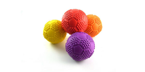 Pet Teeth Bite Colorful Soft Play Rubber Toy Ball for Dog Cat
