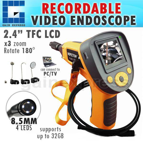 """CO599G_2M Industrial 2.4""""Recordable Video Photo Endoscope Inspection Camera + 2M"""