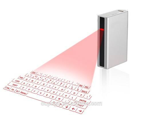 Bluetooth Laser Virtual Keyboard Projection Keyboard with 5200mAh Powerbank 4in 1