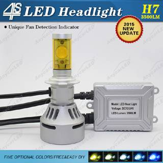 4S 3500LM H7 LED Headlight Bulb Conversion Kit DC12-24V with CE,RoHS