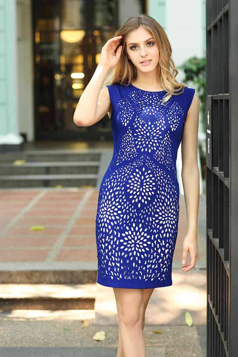 2016 sleeveless Ladies fashion dress