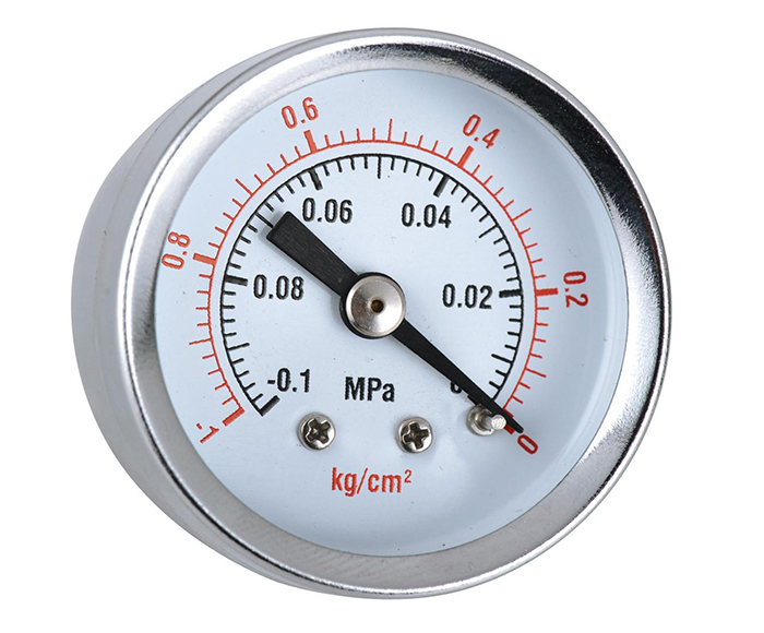 Vacuum Pressure Gauges ,chrome plated case,-0.1-0Mpa
