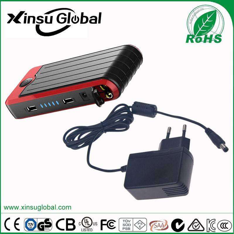 Car Jump Starter Power Adapter 15V 1A with CE GS UL SAA
