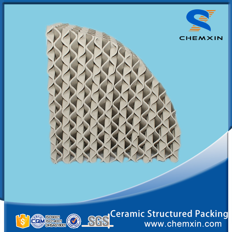 Ceramic structure packing as catalyst carrier