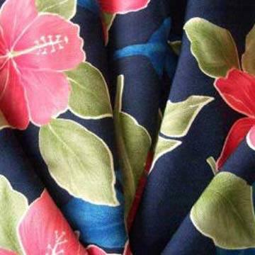 spun rayon printed shirting fabric