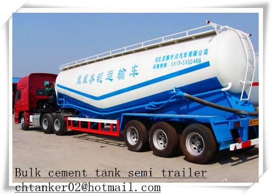 Bulk cement tanker semi trailer tank