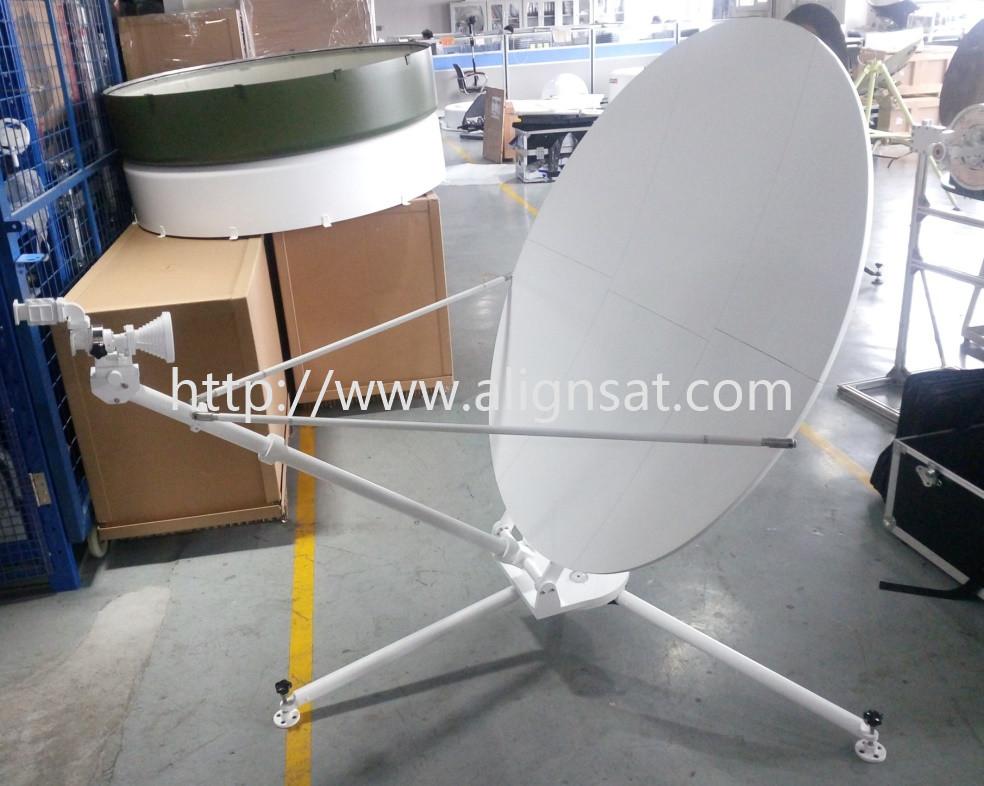 Alignsat 1.2m Ku Band Carbon Fiber Manual Flyaway Antenna