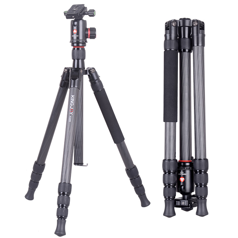 Private label manufacturers professional 4 sections 1.8m carbon fiber photographic video camera trip