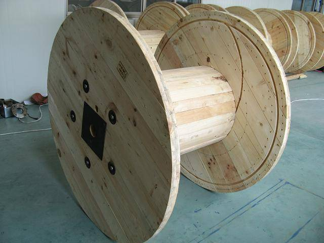 wooden cable drum cable reel