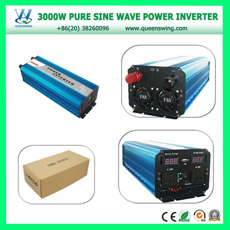 Factory price 3000W DC12V/24V AC110V/220V Pure Sine Wave Solar Inverter with digital display