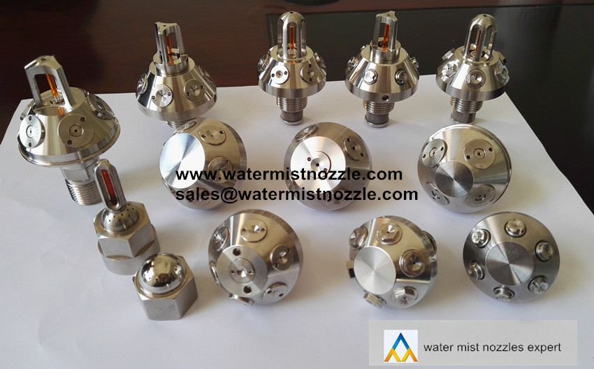 High Pressure Fire Fighting Water Mist Nozzle, Metal Closed or Open Type Nozzle, 316SS High Pressure