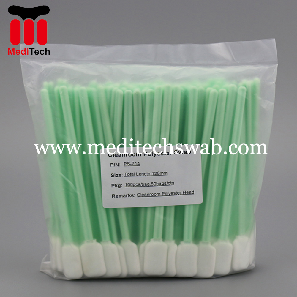 Cleanroom polyester swabs