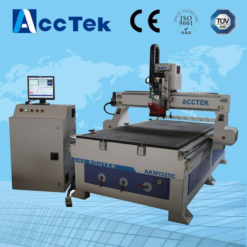 Jinan AccTek woodworking cnc router machinery, cheap ATC cnc router