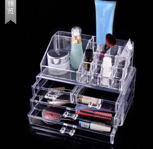 1155 High Quality Makeup Cosmetics Organizer Clear Acrylic 4 Drawers 12 Grids Jewelry Display Box St