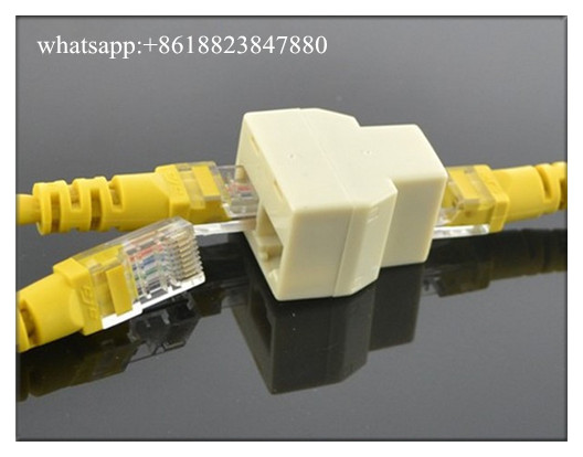 RJ45 CAT5 CAT5E Ethernet Cable LAN Port 1 To 2 Socket Splitter Network Connecter Adapters