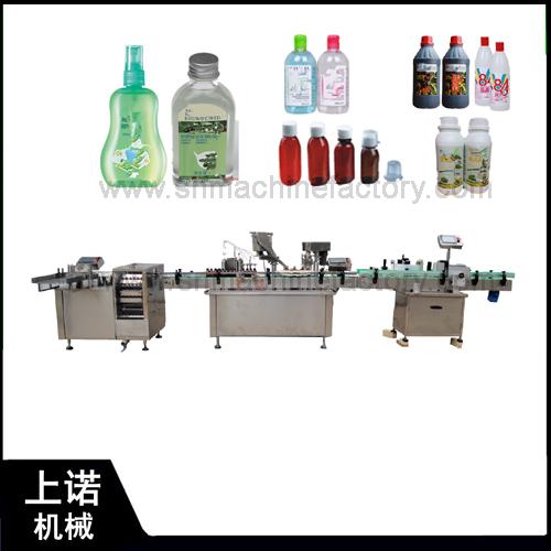 bottle packing filling machine production line for bottling in Shanghai