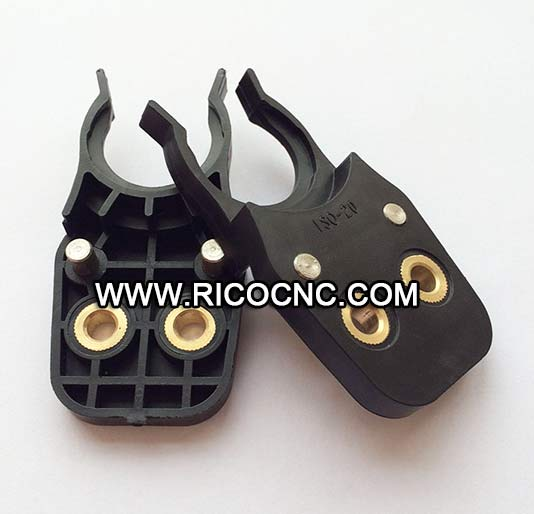 Black ISO20 Tool Holder Forks Plastic Tool Clips for ISO20 Tool Grippers for CNC Router