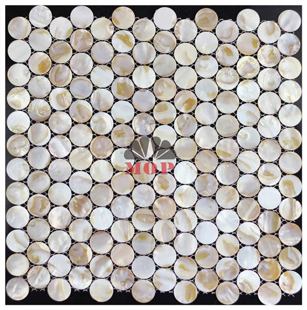 polished round shell decoration tile Entryway