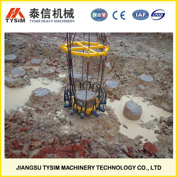 Good quality hydraulic pile cropper,round pile breaker KP315A