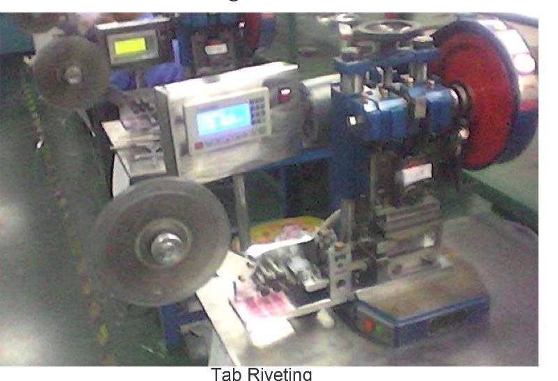 Tab Riveting Machine JB04-2 for battery production