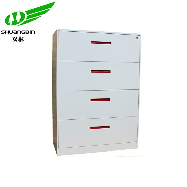 Metal 4 drawer lateral office filing cabinet