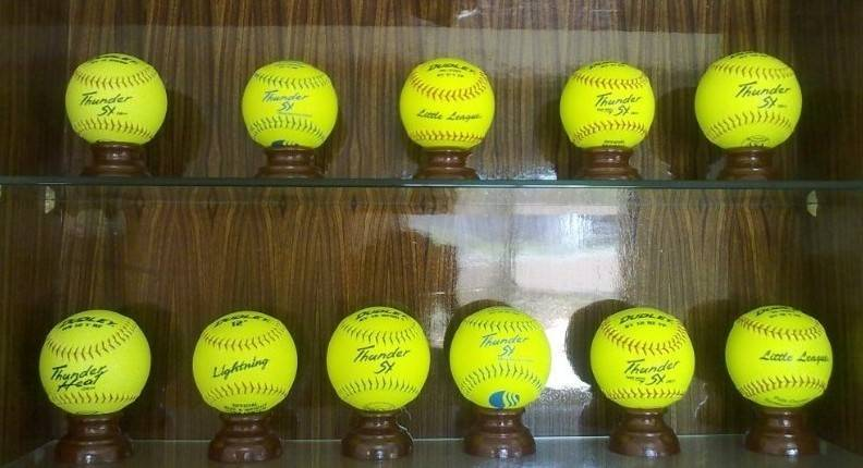 softball,softballs,yellow leather softball,fastpitch softball cor.47/44,slowpitch softball,softball