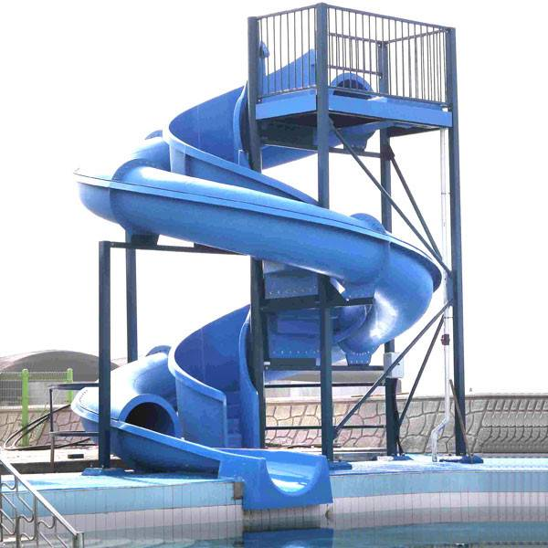 Fiberglass water slide for water park