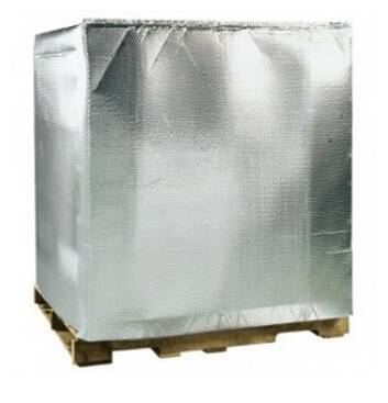Heat resistance insulation thermal reusable pallet cover