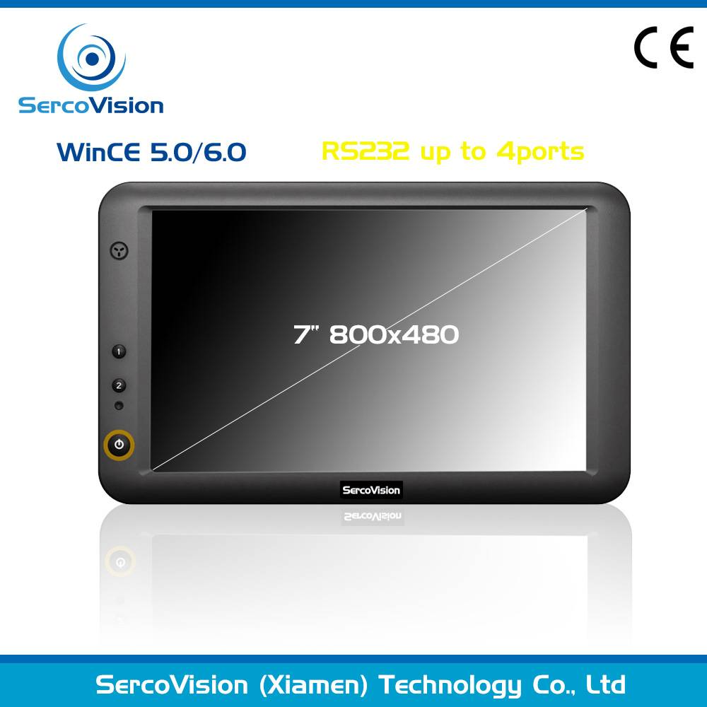 7 inch industry RS232, USB AV all in ONE embedded tablet wince system