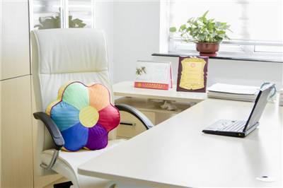 Rainbow flower shape cushion