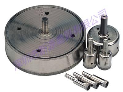 Electroplated glass diamond core drill bit