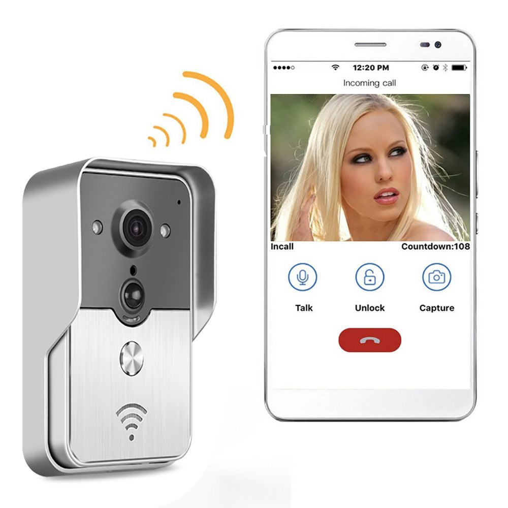Waterproof WiFi Video Doorbell Camera/Wireless Video Door Phone with Motion Detection, Night Vision