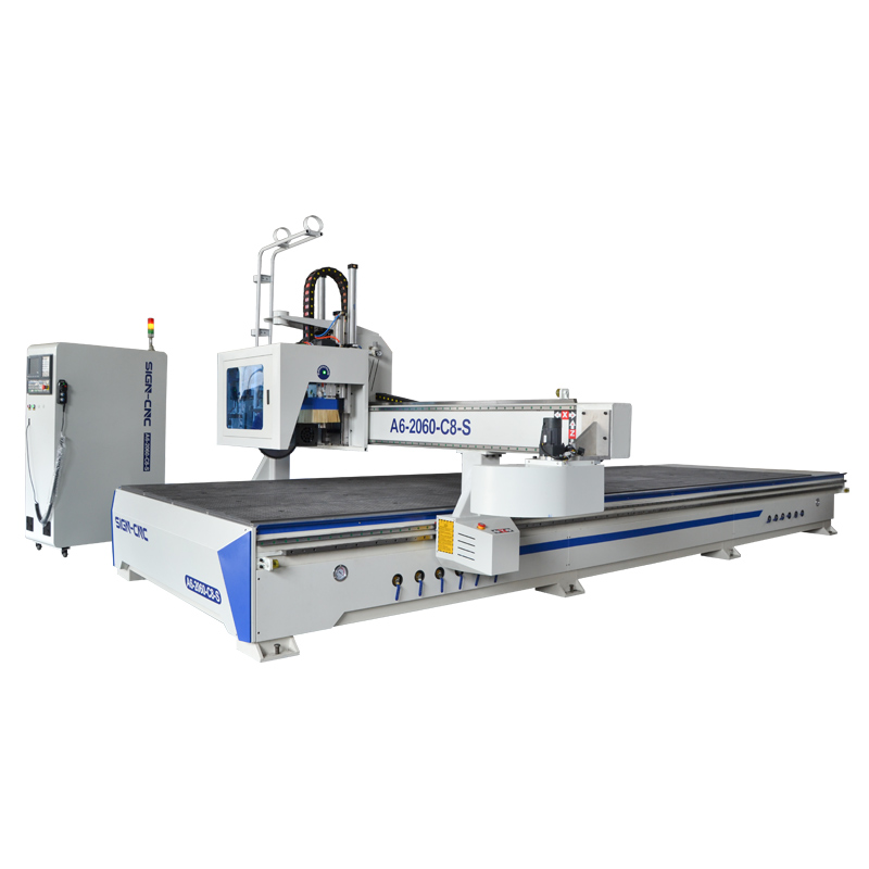 Carousel ATC CNC Router Wood Carving Machine With Saw For Fast Cut