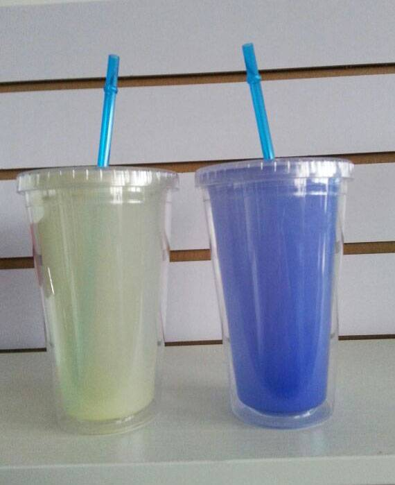 5% discount variable color pp tumbler/insulated cups with straw BPA FREE
